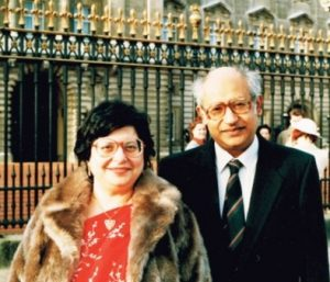 Burjor Avari MBE with his wife Zarin